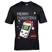 Premium Nouveauté Old School Joueur Noël Bonnet Père Noël Rétro à Main Jeux Hommes Noël T-Shirt T-Shirt Haut