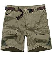 """Jessie Kidden Women's Stretch Cargo Shorts, Quick Dry 7"""" Inseam Outdoor Hiking Travel Shorts"""
