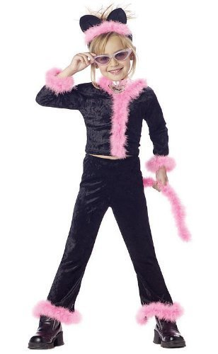 Child's Pink Kitty Cat Halloween Costume (Size: X-Small 4-6)