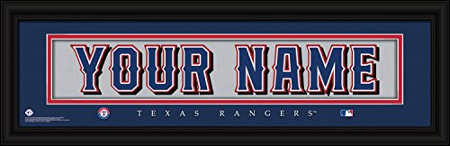 (Texas Rangers Personalized Nameplate MLB framed and customized 24