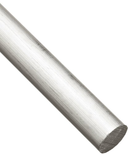- 6061 Aluminum Round Rod, Unpolished (Mill) Finish, Extruded, T6511 Temper, ASTM B221, 1