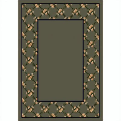 Design Center Rose Bower Sage Rug Size: Runner 2'4