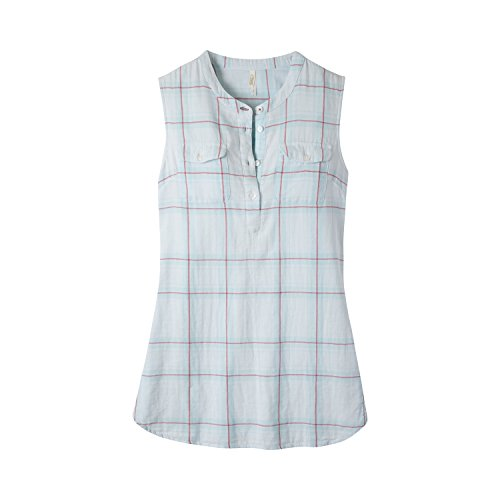 Mountain Khakis Womens Tank Top: Two Ocean Tank Relaxed Fit - Lightweight & Long, Breeze Plaid, Small