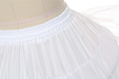 white Edith Crinolina Blanco Ajustable Miriñaque Largo Petticoats Qi Naranja Hoop 6 7 Azul Aros Enagua Negro Boda Aros TqFT0xr