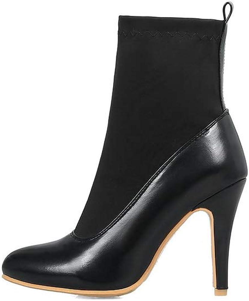 AdeeSu Womens Spikes Stilettos Pointed-Toe Urethane Boots SXC03272
