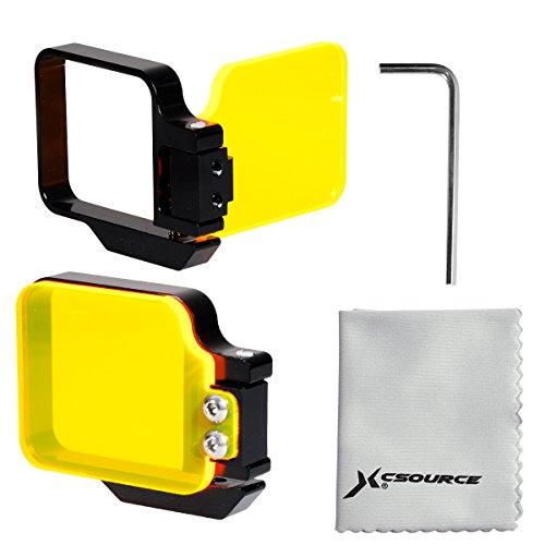 Unpre(TM)For GoPro Hero 3+ 4 Housing Red Flip Filter Underwater Scuba Diving Sport LF634