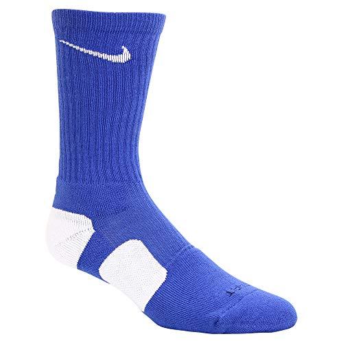 Nike Men's Elite Basketball Crew Socks Style SX3692-441 Size Medium Royal/White/White