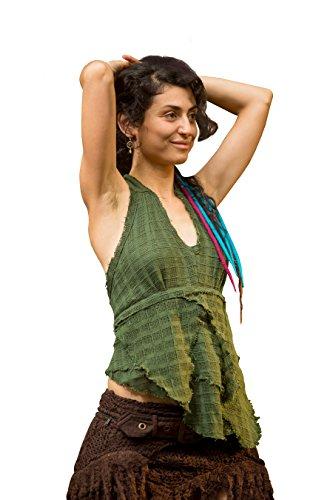 Nomadic Top - Handmade Bohemian Gypsy Top Hippie Psytrance Goa Desert Ethnic Festival Fairy Elf Crochet - Elf Nomadic