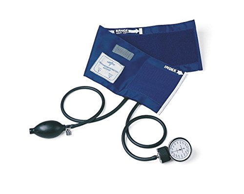Medline MDS9380 PVC Handheld Aneroid Sphygmomanometers Adult, Black