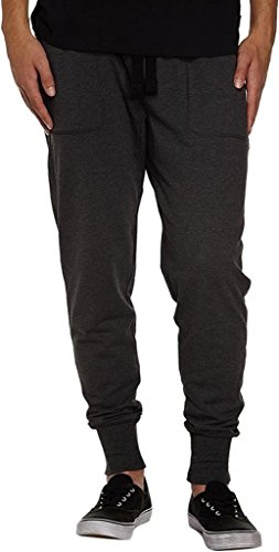 Mrignt Mens Casual Jogger Sweat Pants Cotton Active Elastic Waist Running Sports Trousers(DarkGray,L)