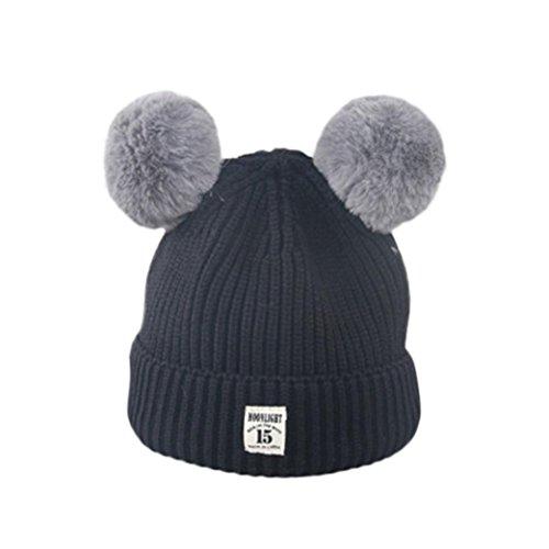 Black Velour Bowler Hat - Changeshopping 1 PC Baby Children Knitted Cap Hats