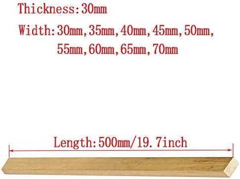 Asitlf Ottone Flat Bar 500mm / 19.7inch H59 CU Rame Lamiera Spessore 30 Millimetri,Width 70mm