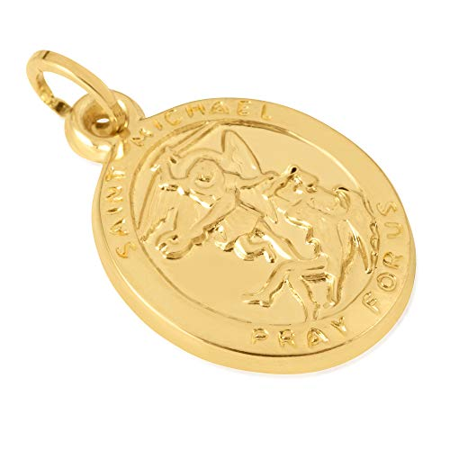 (14KT Yellow Gold Oval Disc