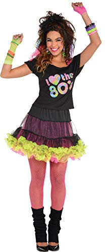 AMSCAN I Love The 80s T-shirt for Women, One -