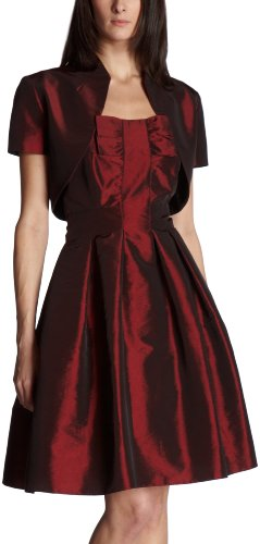 Eliza J Women's Taffeta Party Dress,Burgundy,8