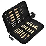 Bheema 14PCS Wooden Metal Pottery Clay Molding Sculpting Tools