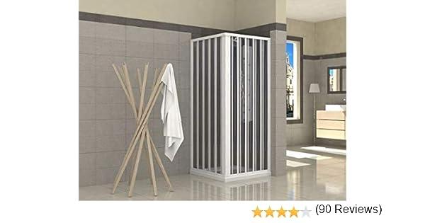 Mampara de ducha plegable de PVC, 2 lados, 70 x 70 cm: Amazon.es ...