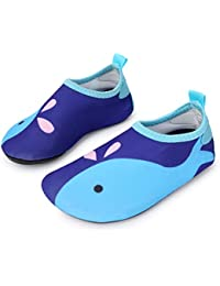 Children's Swim Water Shoes Barefoot Aqua Socks for Beach Pool Surfing Yoga