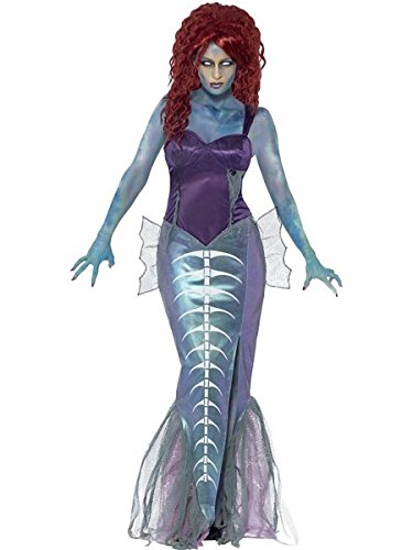 Smiffy's Women's Zombie Mermaid Costume, Top and Fishtail Skirt, Zombie Alley, Halloween, Size 14-16, 44359