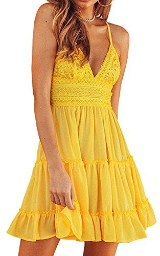 Gyozelem-Women-Sexy-Spaghetti-Strap-Backless-Mini-Dress-Solid-Lace-Party-Beach-Sundress-US-02-Style-2-Yellow