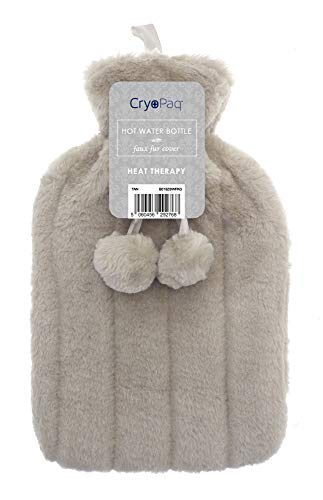 Luxury Hot Water Bottle with Best Plush Faux Fur Cover 2L 2 Litre Liter...