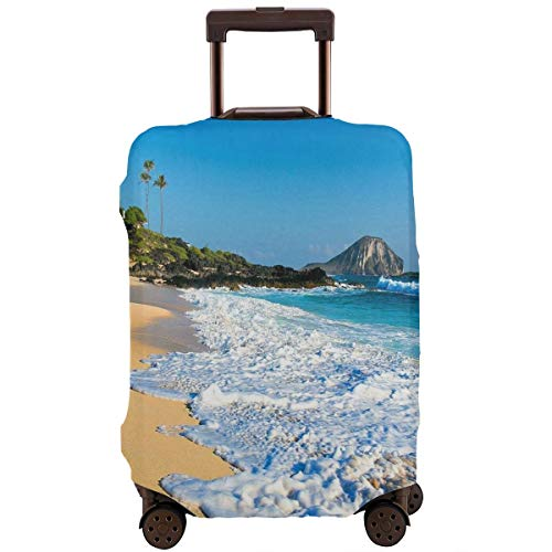 Luggage Cover Hawaii Beach Foam Creative Travel Suitcase Cover Protector Bag Dustproof Washable Fits 18-32 Inch Luggage ()