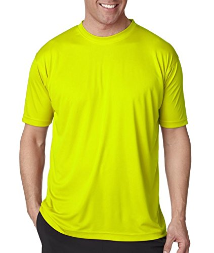 Yellow T-shirt Bright (Moisture-wicking men's cool and dry sport performance tee. (Bright Yellow) (Small))