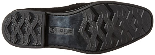 Stacy Adams Mens Moc-toe Slip-on Mocassino In Pelle Scamosciata Nera