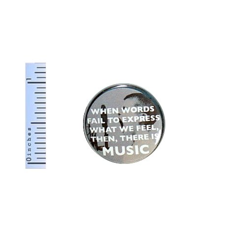 (Music Button Indie Rock Pin Pinback Music Lover Gift Inspirational Quote Saying 1
