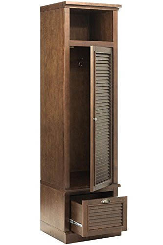 Pine Shutter - Shutter Modular Locker Door, RIGHT, SMOKY BROWN