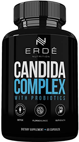 Erde Nutrition Candida Support Complex Supplement 60 Capsules, Candida Cleanse Enzymes with Probiotics to Support Immune System, Digestion and Clear Candida for Men and Women