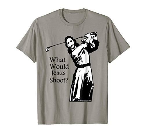 Golf T-shirt - What Would Jesus Shoot? Men - Women (Jesus Golf)