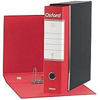 Esselte 390783160, Raccoglitore Oxford, Formato Commerciale, Cartone, Dorso 8 cm per Raccoglitore, Confezione da 6pz, Rosso