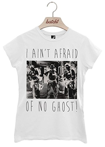 Batch1 I Aint Afraid Of No Ghost Ghostbusters Halloween Fancy Dress Womens T-Shirt (Medium, (Ghostbusters Womens Fancy Dress)