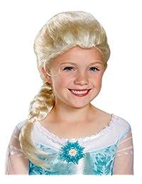 Disguise Disney's Frozen Elsa Child Wig Girls Costume, One Size Child