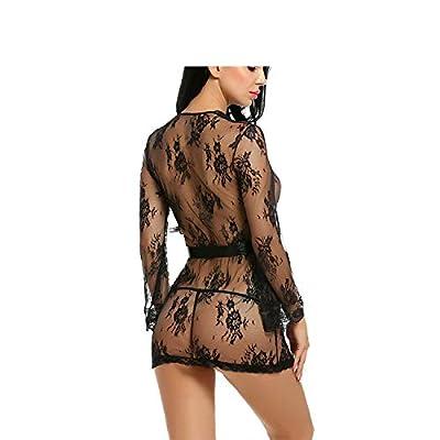 Luck Man Sexy Lingerie Robe Dress Women Lingerie Erotic Plus Size Nightwear Costumes Bathrobe Dressing Gown