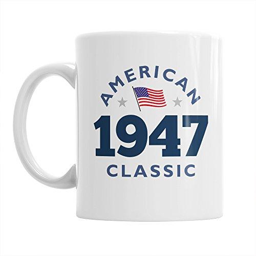 70th Birthday, 70th Birthday Gift, 70th Birthday Gifts For Men, 70th birthday Gifts For Women, 1947 Birthday, Vintage 1947, Coffee Mug