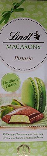 Lindt Macaron's Pistachio (3 x 100g) - full milk chocolate with pistachio cream and fine pastry pieces