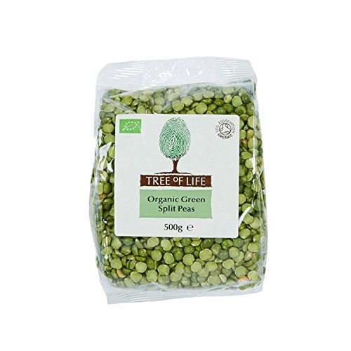 Tree of Life Organic Green Split Peas 500g - Pack of 6 by Tree of Life