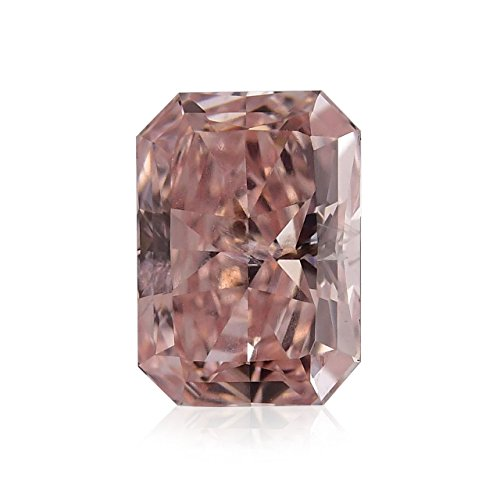 0.65 Carat Fancy Orangy Pink Loose Diamond Natural Color Radiant Cut GIA (I1 Radiant Loose Diamonds)