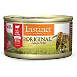 Instinct Original Grain Free Real Beef Recipe Natural Wet Canned Cat Food by Nature's Variety, 3 oz. Cans (Case of 24)