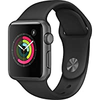 Apple Watch Series 1 38mm Smart Watch with Space Gray Aluminum Case & Black Sport Band (Space Gray)