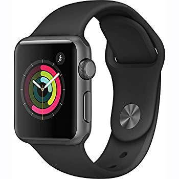 Apple Watch Series 1 38mm Smartwatch (Space Gray Aluminum Case, Black Sport Band) 0