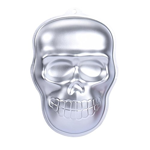Metal Skull Cake Cookie Jelly Tin Pan Halloween Baking Mold Mould Kitchen -