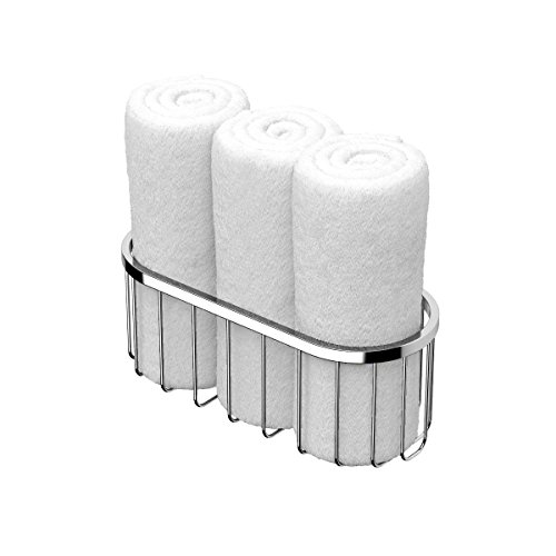 Gatco 1516 Rolled Towel Basket, Small, (Gatco Satin Shower Caddy)