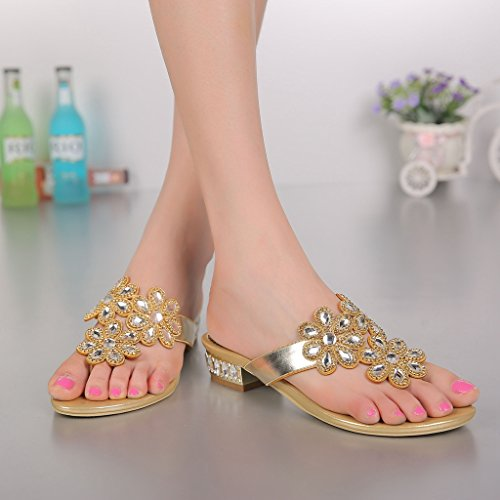 Toes Peep Peep Gold Damen Toes Meijili Meijili Damen 7wqn4df