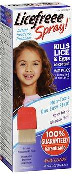 LiceFreee! Lice Killing Hair Spray 6 oz (Pack of 3) by Licefreee