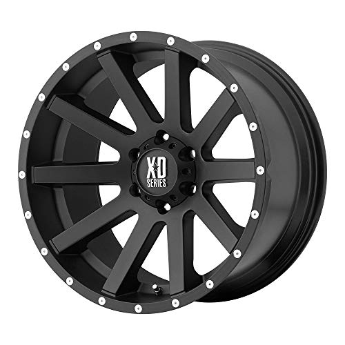 XD SERIES BY KMC WHEELS HEIST SATIN BLACK HEIST 16x8 6x114.30 SATIN BLACK (10 mm) rims (Frontier Alloy Wheel Nissan)