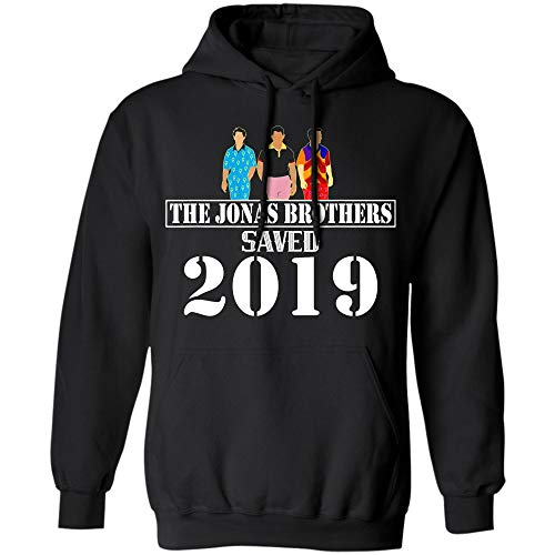 The Jonas Brothers Saved 2019 t-Shirt for Music Lovers (Hoodie;Black;M)