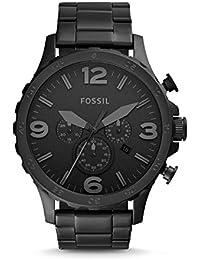 Men's Nate Quartz Stainless Steel Chronograph Watch, Color: Black (Model: JR1401)